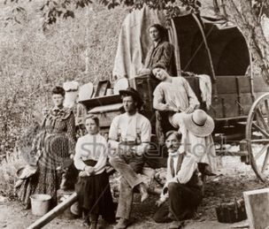 Stock-photo-pioneer-settlers-homesteaders-covered-wagon-circa-vintage-photo-4422139