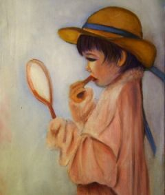 A0548_rj_oil_child_acting_like_a_grownup_16x20