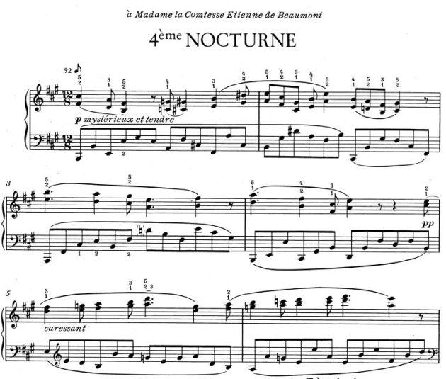 satie 4 nocturne