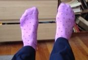 purple socks